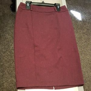 Maroon Tweed Mossimo Stretch Pencil Skirt